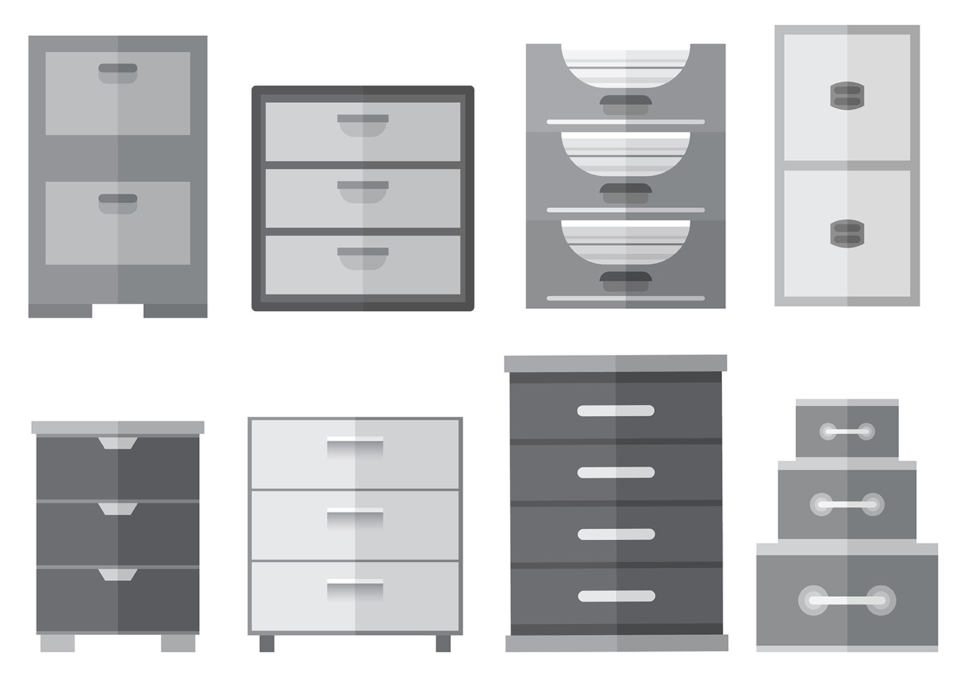 free file cabinet icons vector download free vector art stock graphics images. Black Bedroom Furniture Sets. Home Design Ideas