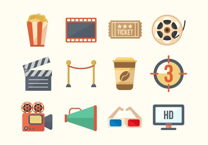 Free Cinema Movie Vector Icons