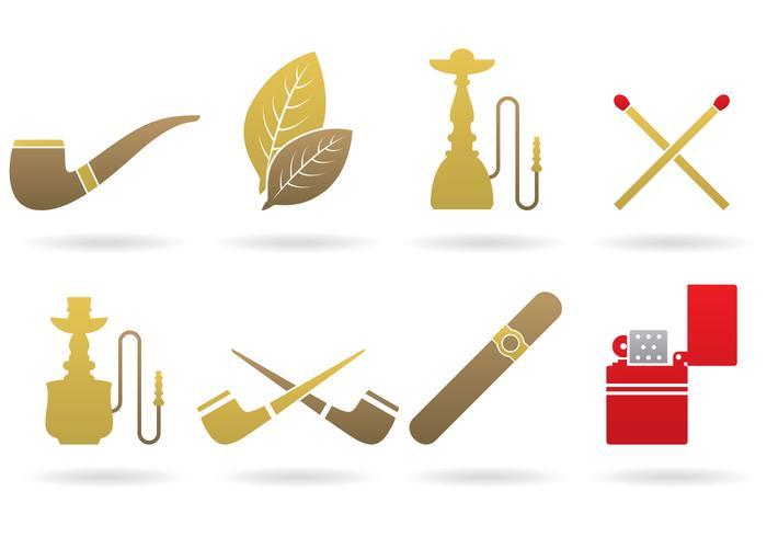 Vectores del logotipo del tabaco