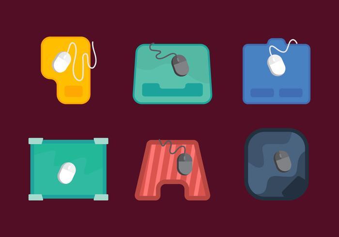 Mouse pad vettoriale gratuito 1
