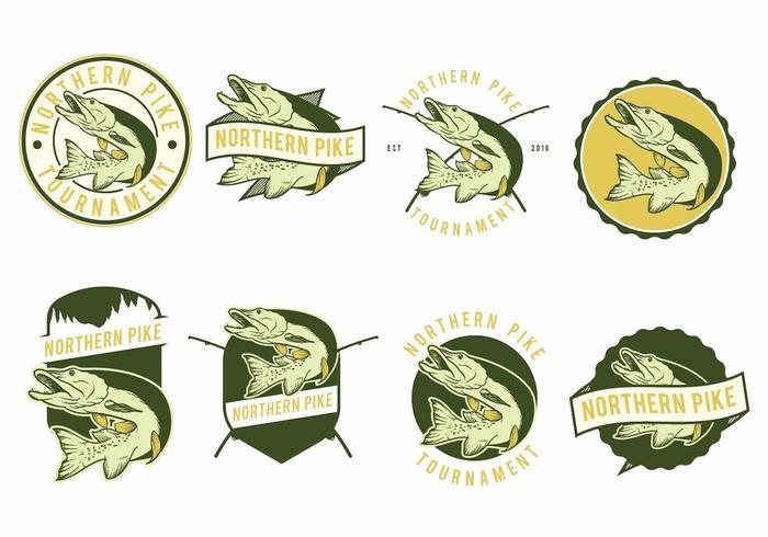 Snoek vissen badges