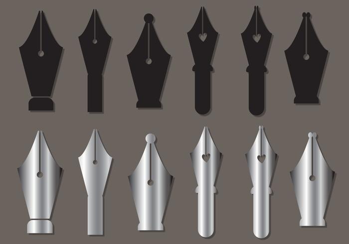 Stift Nib Vektor Set