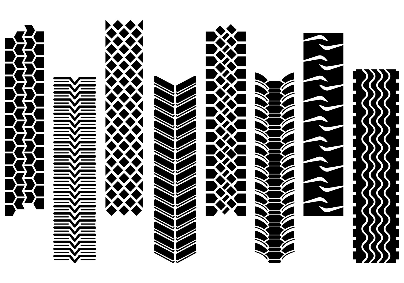 Set Of Tractor Tire Vector Download Free Art Stock Graphics amp Images