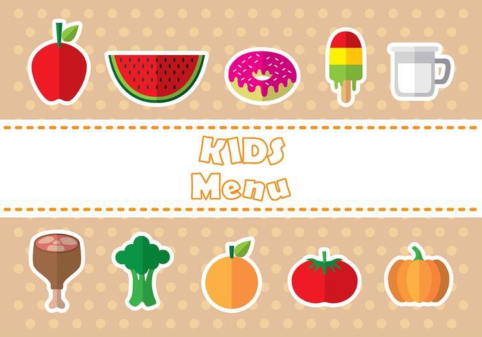 Kids menu icon vectors