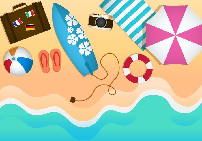 Free Beach Theme Illustration Vectors