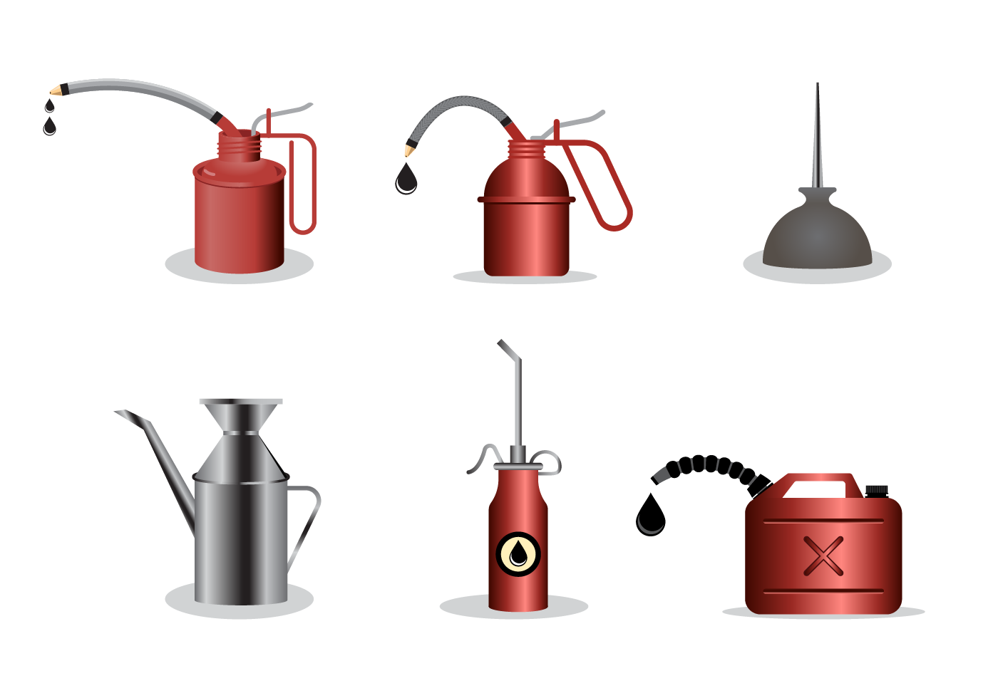 Free Oil Can Vector - Download Free Vector Art, Stock ...