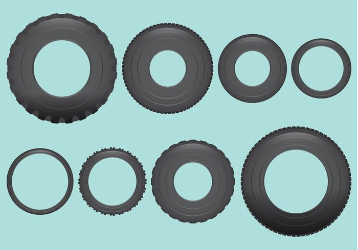 Vehicle Tires Vectors