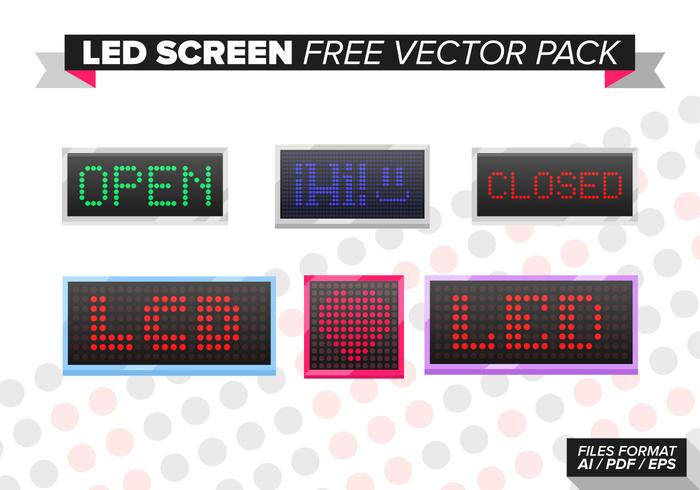 Led Screen Free Vector Pack