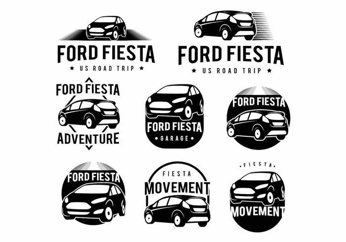 Ford Fiesta Badge Set
