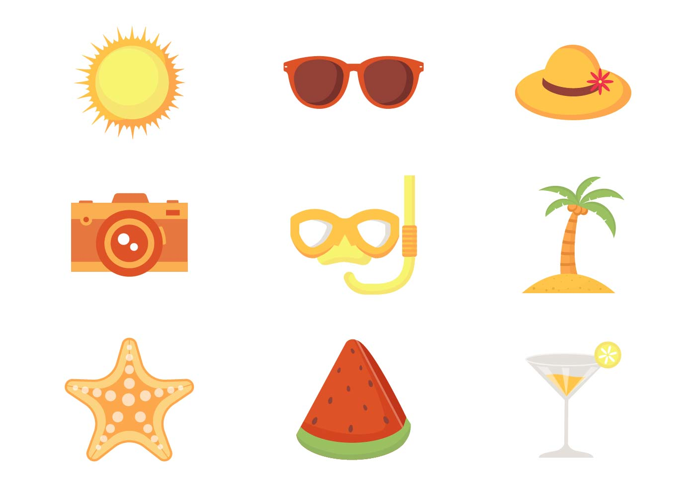 Free Beach Theme Vector - Download Free Vectors, Clipart ...
