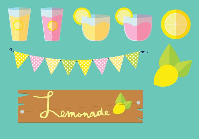Lemonade Stand Vector Grafische Set