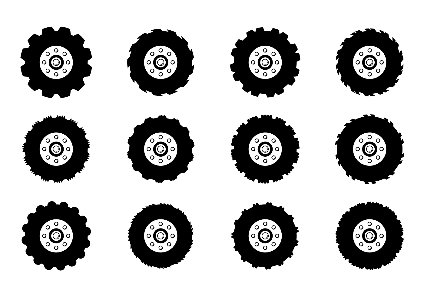 Muddy Tractor Clip Art : Tractor tire vector download free art stock