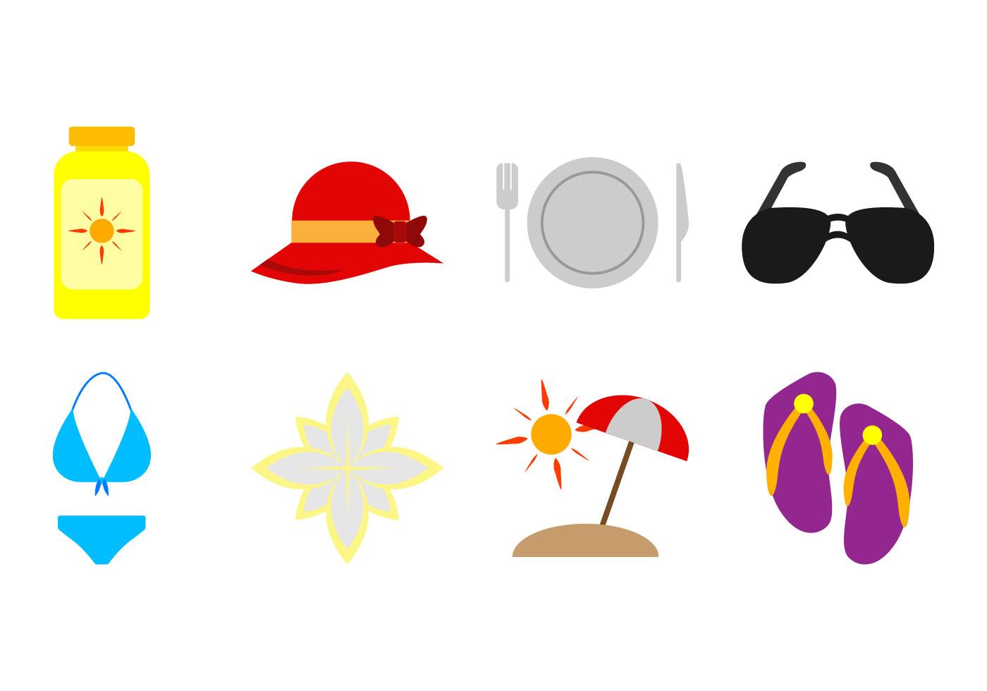 free beach theme icon vector download free vector art