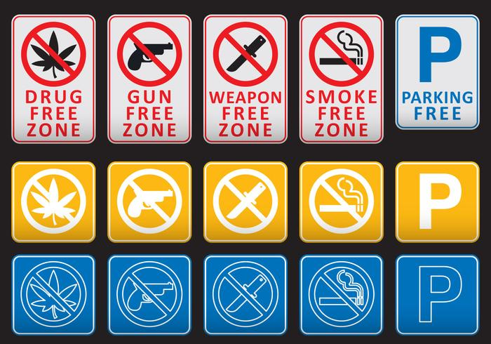Free Zone Signs
