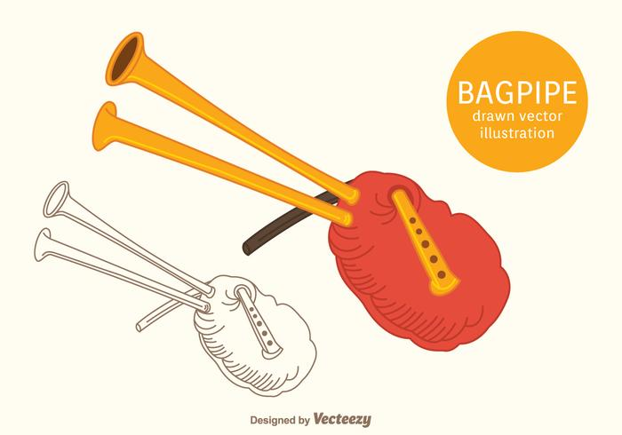 Free Bagpipe Vector Illustration