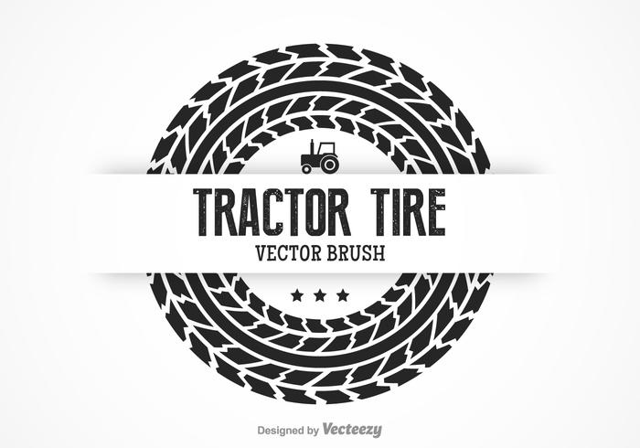 Free Tractor Tire Vector Brush