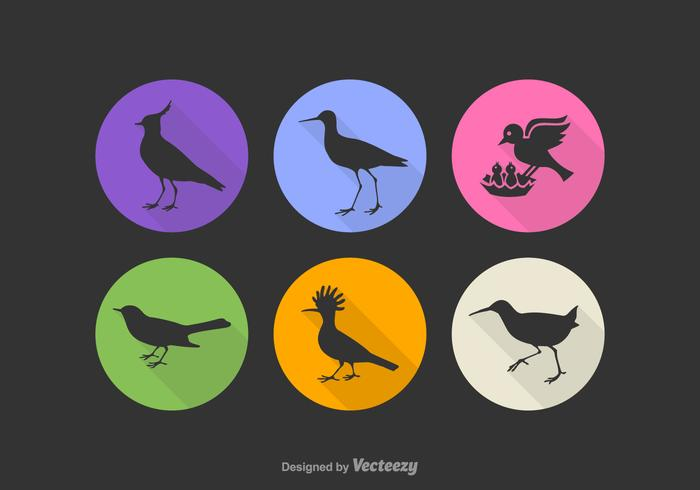 Free Bird Silhouette Vector Icons
