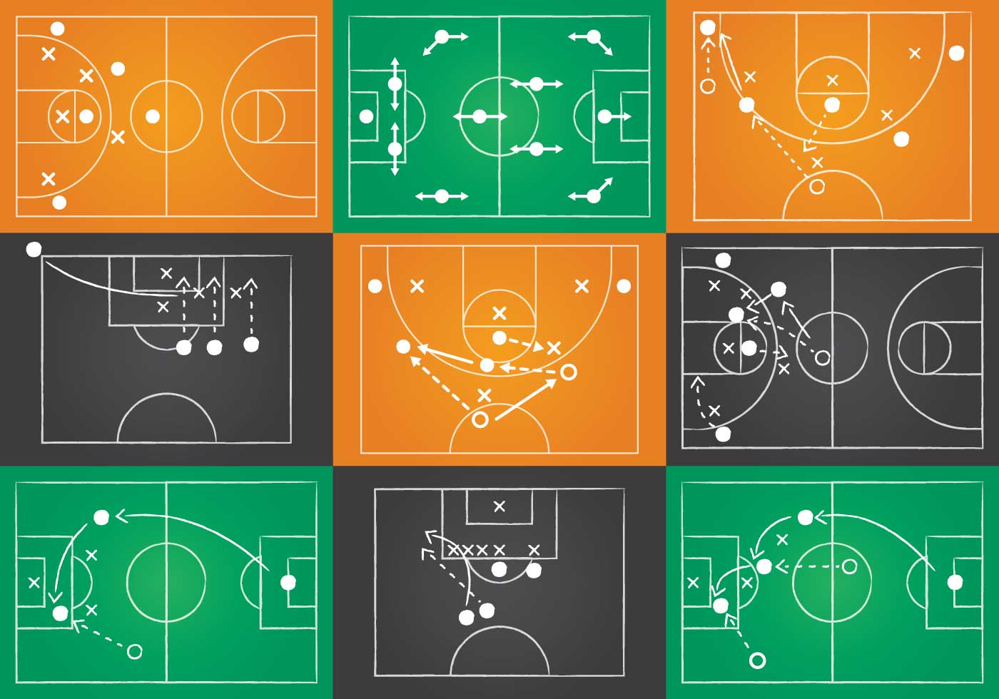 Sport Playbook Vector Set Download Free Vector Art