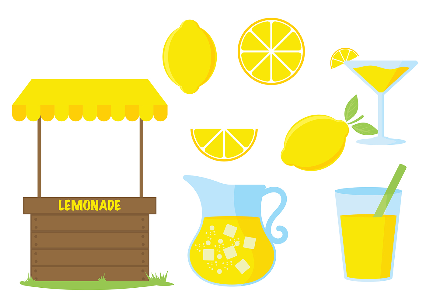 Lemonade Stand Vector Icon Download Free Vector Art