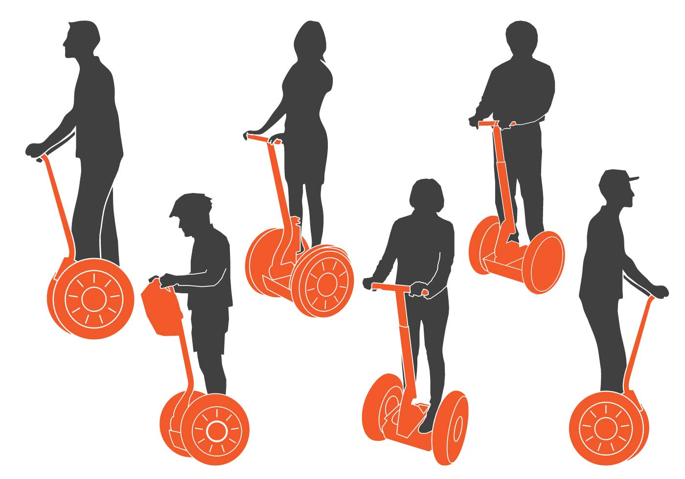 Toyota Of Paris >> Segway Silhouettes - Download Free Vector Art, Stock Graphics & Images