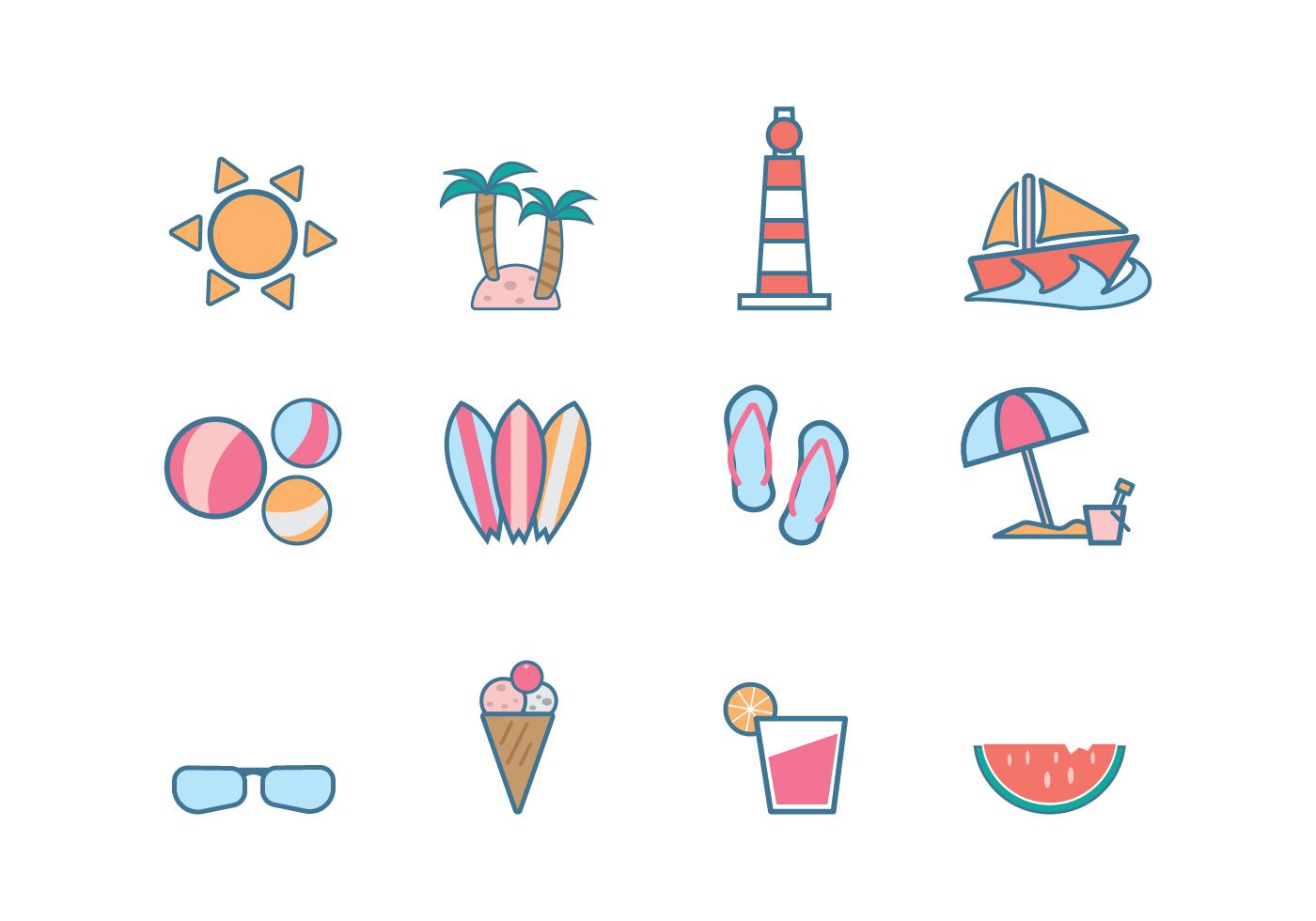 free beach icon vector