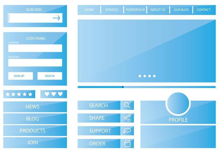 Template Blue Web Kit