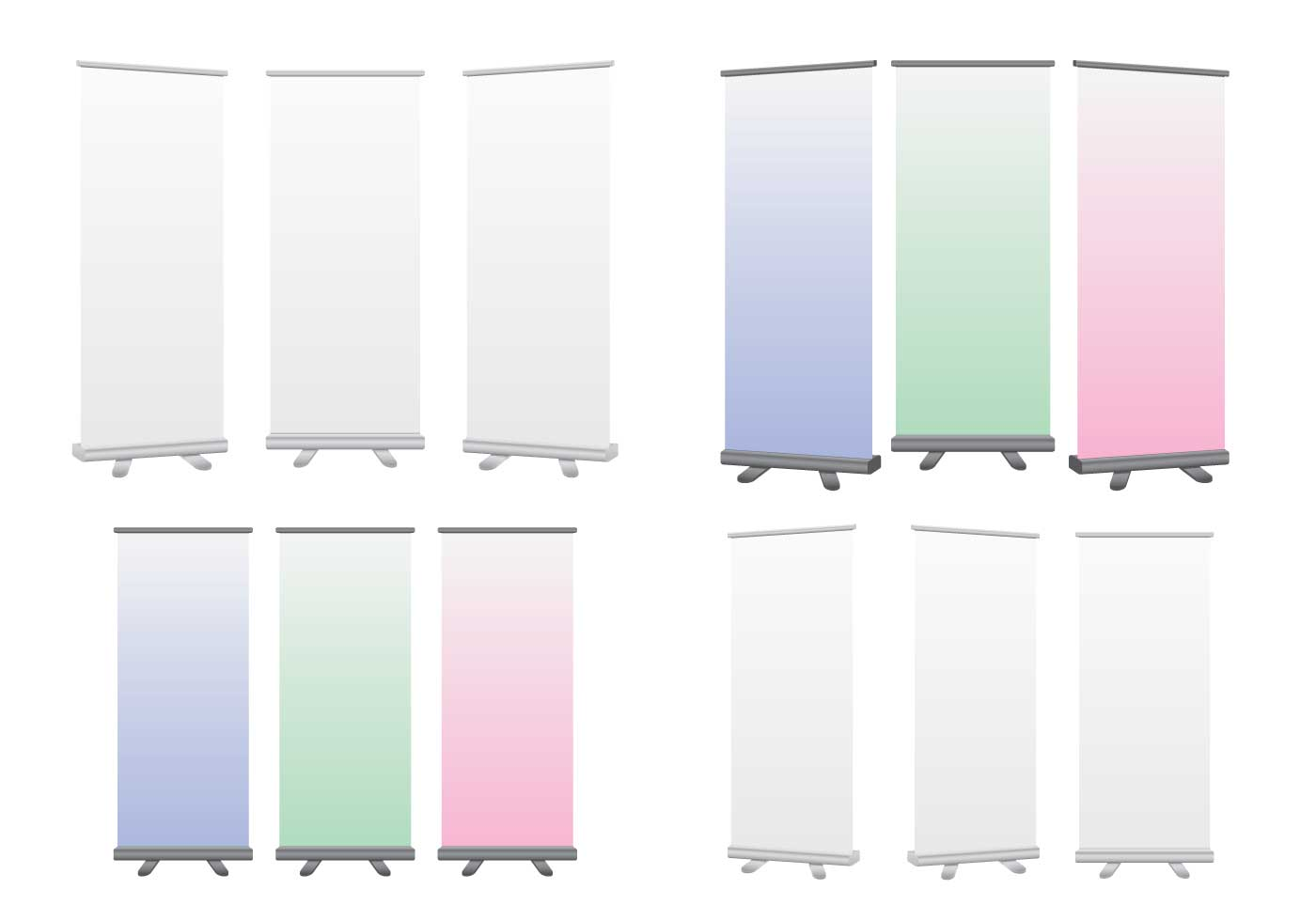 Roll Up Banner Free Vector Art 11159 Free Downloads
