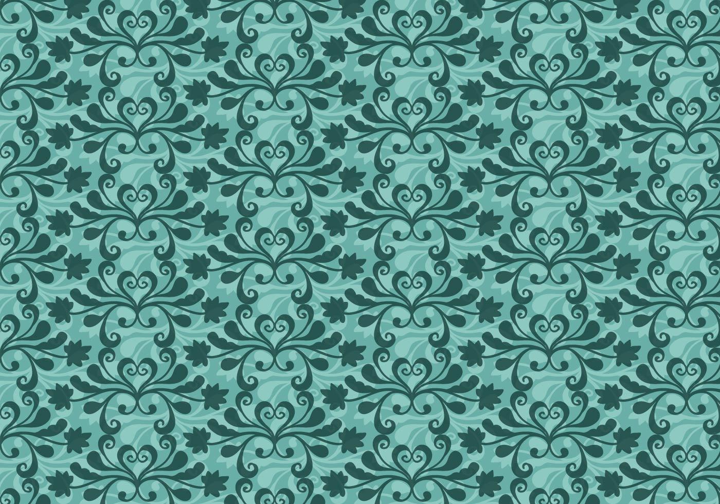 Free Vector Teal Western Flourish Pattern Download Free