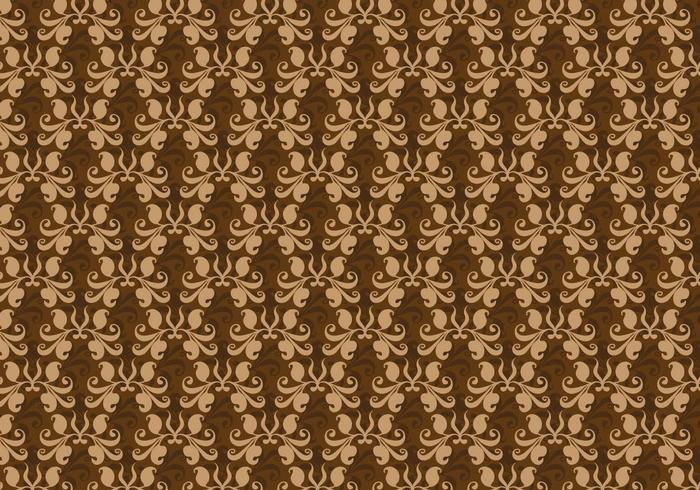 Free Vector Brown Western Flourish Pattern