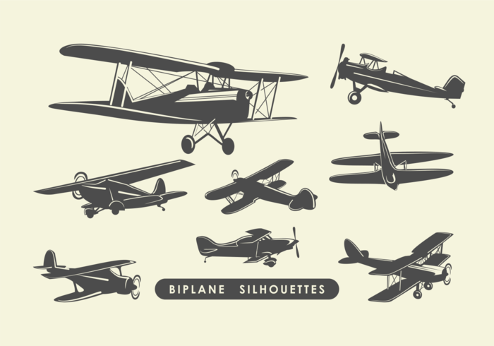 biplane silhouettes download free vector art stock graphics images rh vecteezy com Free Banner Clip Art Free Clip Art of Cartoon Airplane with Banner