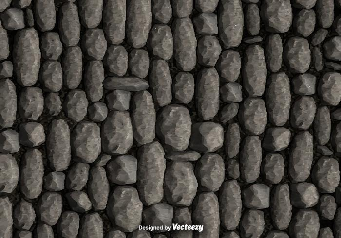 Pebble Stone Wall Background Vector