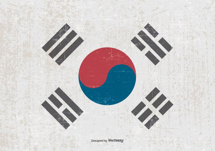 Grunge Flag of South Korea
