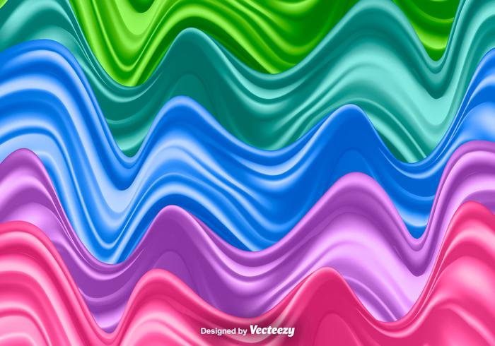Silk Waves Set - Vector Illustration
