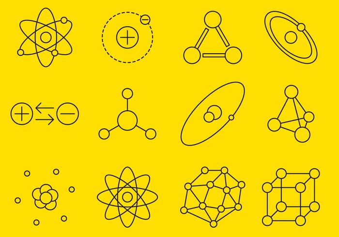 Atom Line Icons