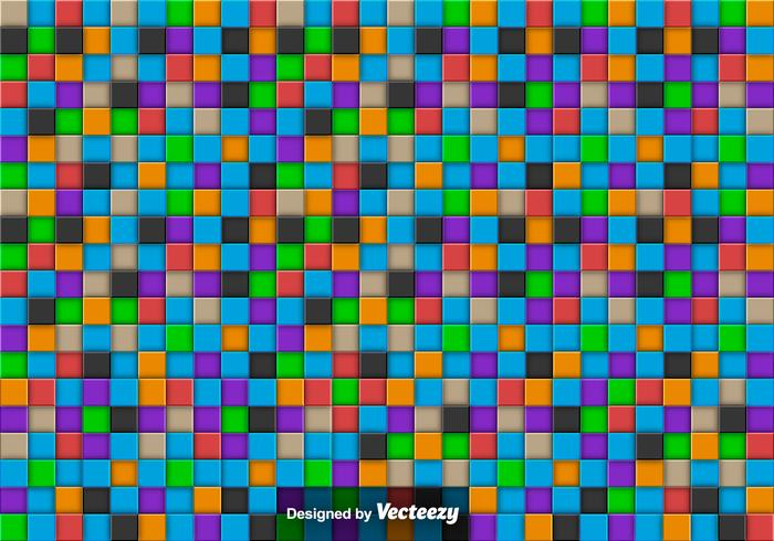 Vector Abstract Background With Colorful Tiles