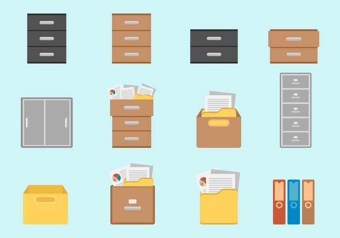 Libere los vectores del gabinete del archivo