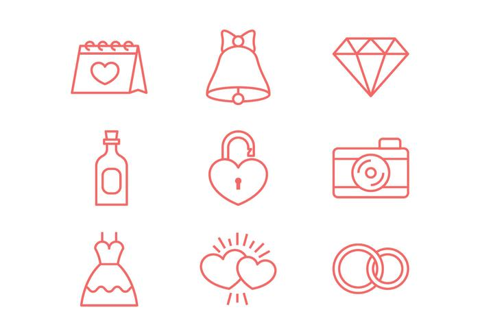 Wedding Line Icon