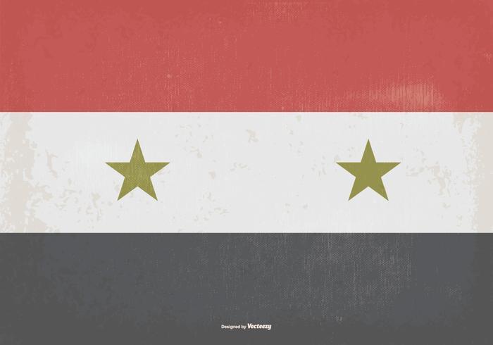Vintage flagg av siria