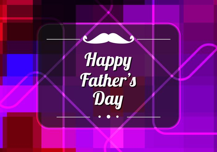 Free Vector Colorful Father's Day Background