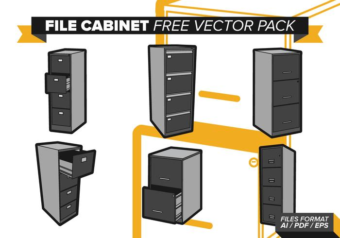 File Cabinet Free Vector Pack