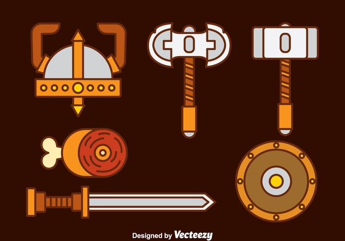 Barbarian Icons vector