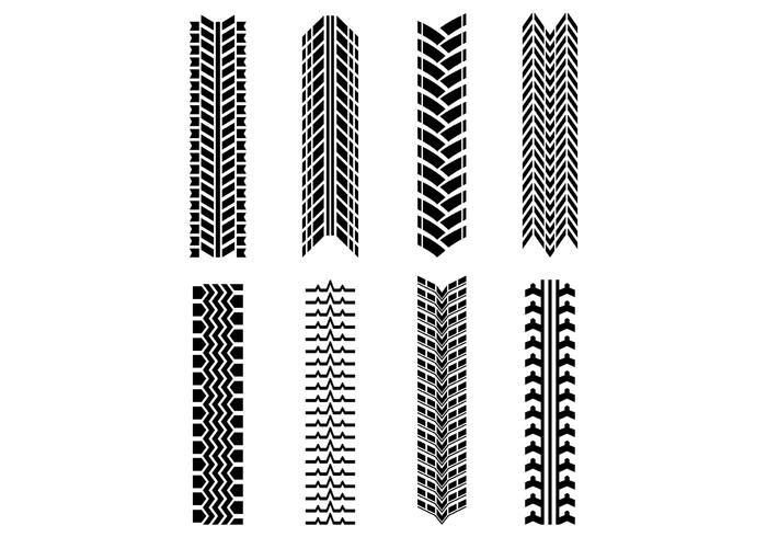 Set Of Tractor Tire Vector