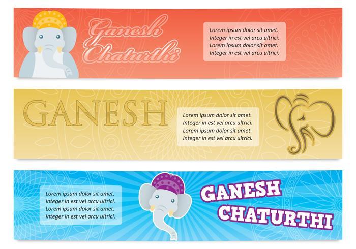 Banners de Ganesh vector