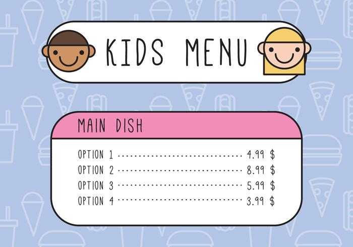 Kids Outlined Menu