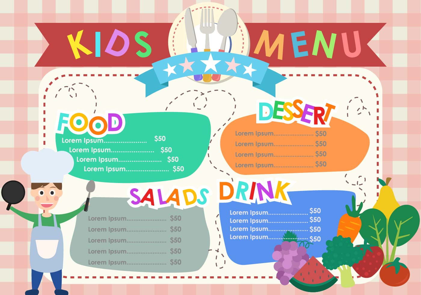 kids menu templates download free vector art stock graphics images