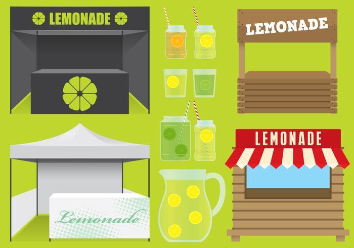 Soportes de limonada vector