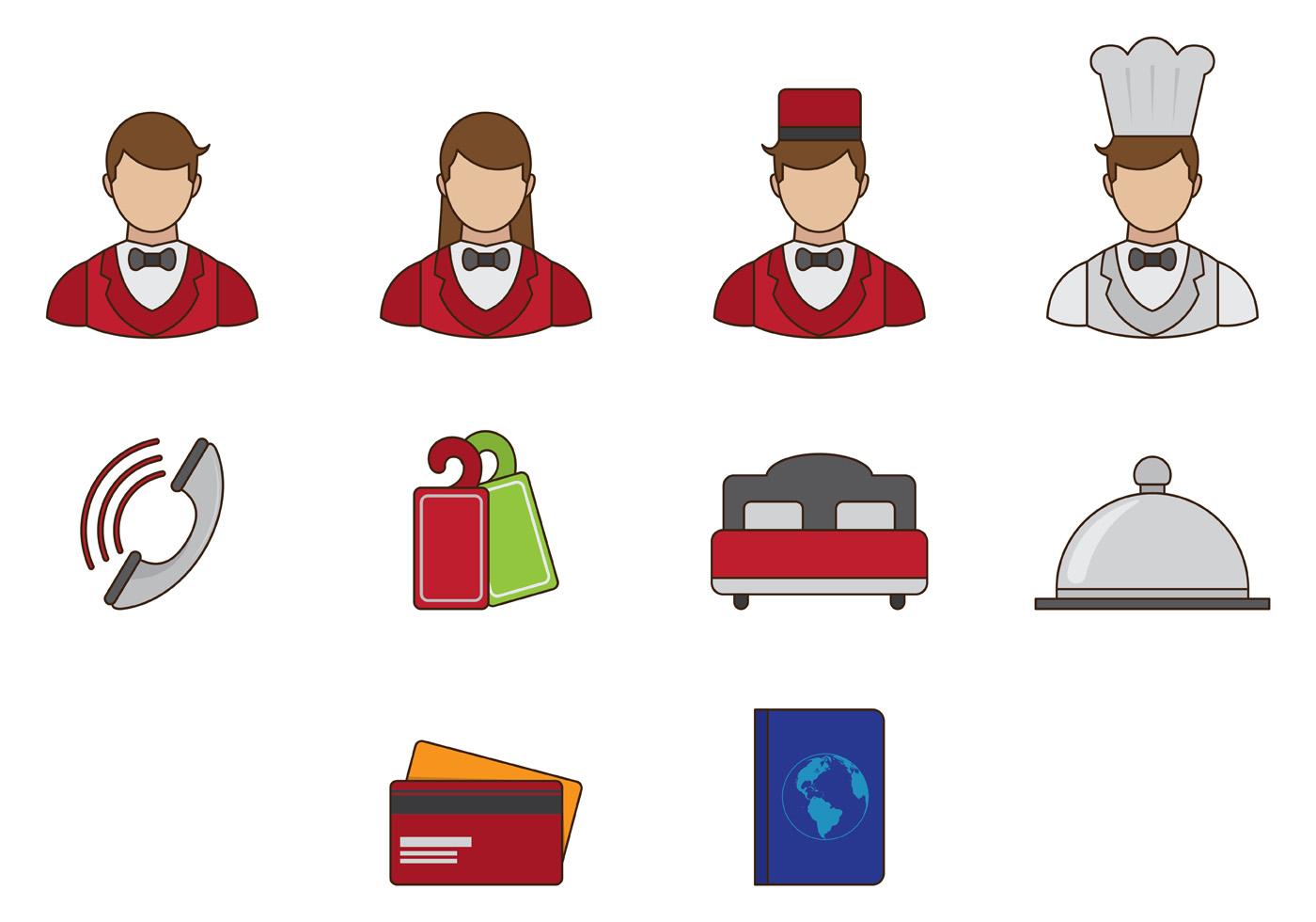 Concierge Vector Icon - Download Free Vectors, Clipart ...