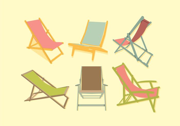 Colorful Deck Chair Vector