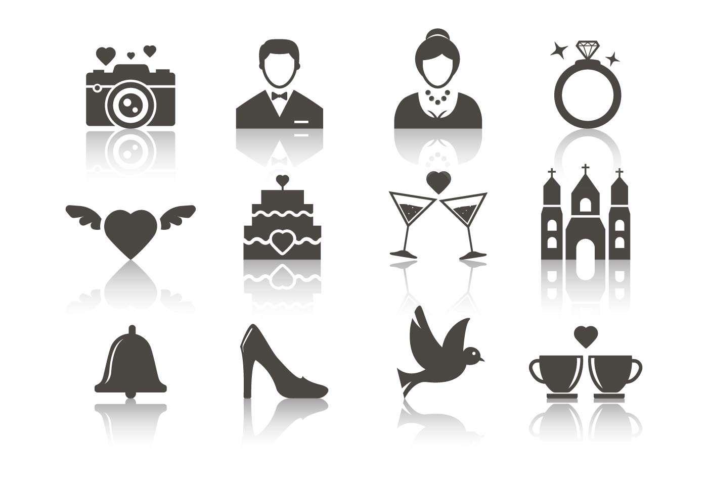 Free Wedding Icons Vector Download Free Vector Art Stock Graphics Amp Images