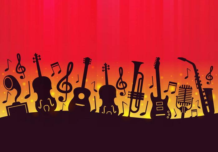 115312 Free Music Background Vector on Silver Symbol